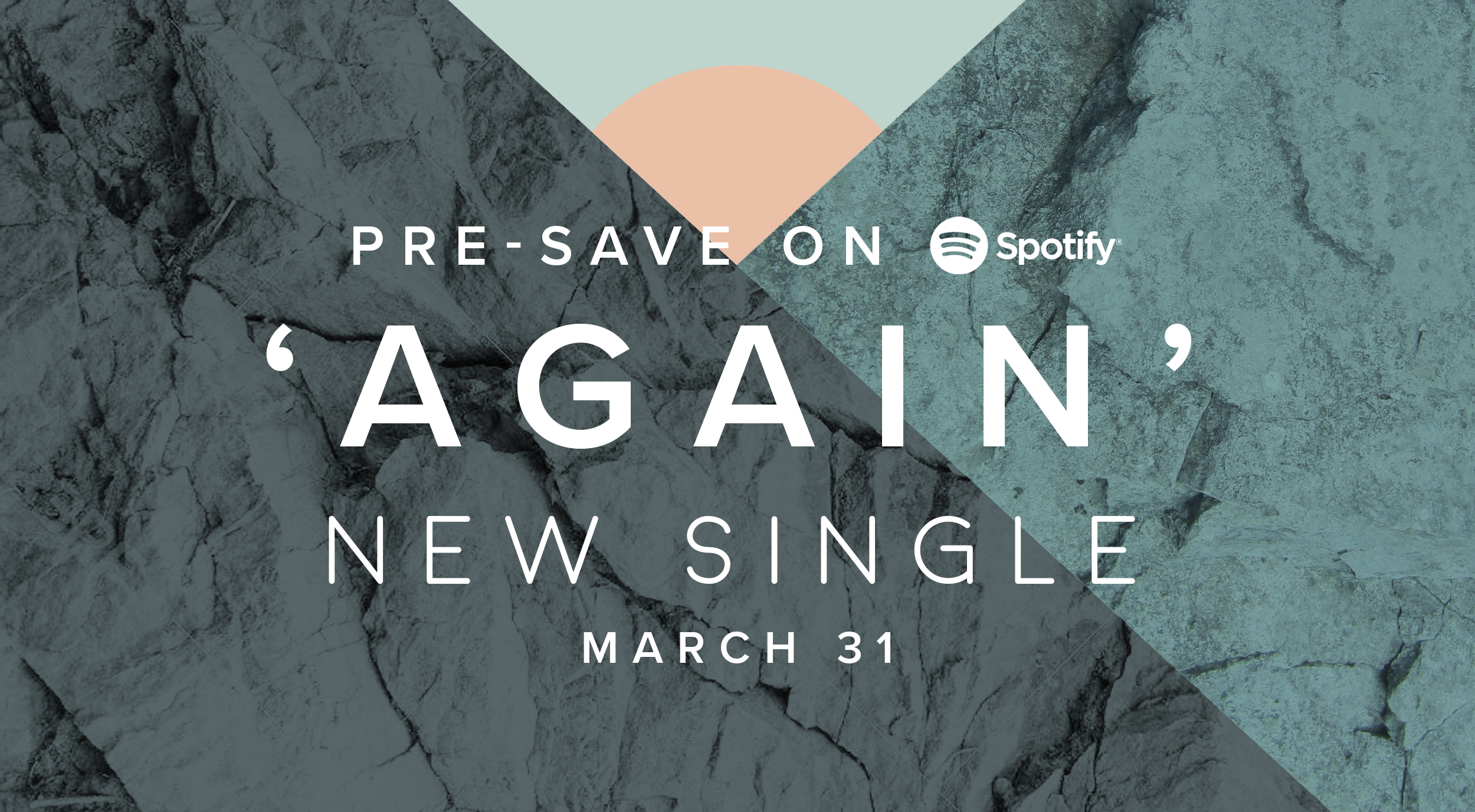 pre-save our new single Again on Spotify