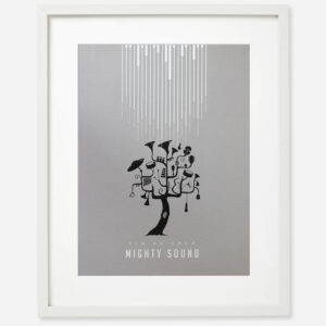 Mighty sound screen print poster